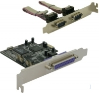 DeLOCK PCI Express card 2 x serial, 1x parallel