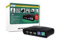 Digitus USB 2.0-KVM switch, 2-port (Schwarz)