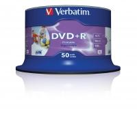Verbatim DVD+R Wide Inkjet Printable ID Branded