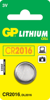 GP Batteries Lithium Cell CR2016 (Edelstahl)