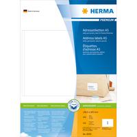 HERMA Adressetiketten Premium A5 148.5x205 mm weiß Papier matt 400 St. (Weiß)