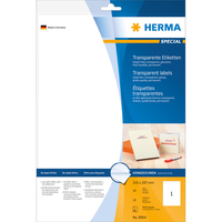 HERMA Inkjet Folien-Etiketten transparent A4 210x297 mm Folie glänzend 10 St. (Transparent)