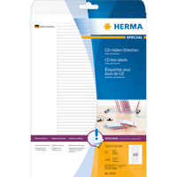 HERMA Etiketten für CD-Box A4 114.3x5.5 mm weiß Papier matt 1200 St. (Weiß)