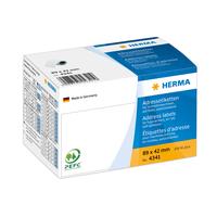 HERMA Adressetiketten für Schreibmaschinen auf Rollen 89x42 mm weiß Papier matt 250 St. (Weiß)