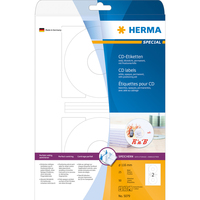 HERMA CD-Etiketten A4 Ø 116 mm weiß Papier matt blickdicht 50 St. (Weiß)