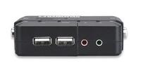Manhattan 151252 Tastatur/Video/Maus (KVM) Switch (Schwarz)