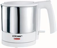 Cloer 4721 Wasserkocher (Edelstahl, Weiß)
