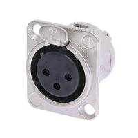Neutrik NC3FD-L-1 Kabelbinder (Schwarz, Silber)