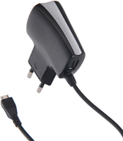 Cellular Line ACHUSBMICROUSB1 Ladegeräte für Mobilgerät (Schwarz)