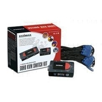 Edimax EK-2USK 2 Port USB KVM Switch Kit (Schwarz)