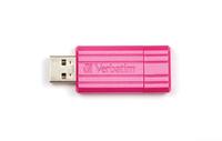 Verbatim 32GB PinStripe 32GB USB 2.0 Pink USB-Stick (Pink)