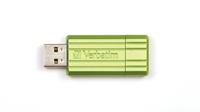 Verbatim 16GB PinStripe 16GB USB 2.0 Grün USB-Stick (Grün)