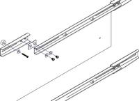 Newstar FPMA-VESA800 Wand-/Deckenhalterungs-Zubehör (Silber)