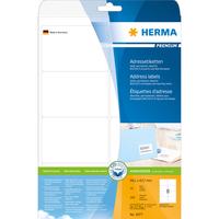 HERMA Adressetiketten Premium A4 99.1x67.7 mm weiß Papier matt 200 St. (Weiß)
