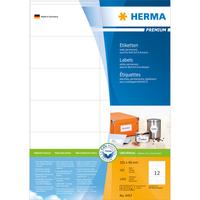 HERMA Etiketten Premium A4 105x48 mm weiß Papier matt 1200 St. (Weiß)