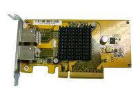 QNAP LAN-1G2T-U Netzwerkkarte/-adapter (Aluminium, Gelb)