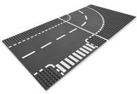 Lego City - 7281 Kurve T-Kreuzung (Grau, Weiß)