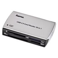Hama CardReaderWriter 35in1, USB 2.0 (Silber)