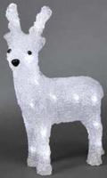 Konstsmide Acrylic reindeer 23cm, LED (Weiß)