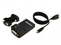 Lenovo USB 3.0 - DVI/VGA (Schwarz)