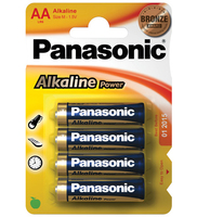 Wentronic LR6 4-BL Panasonic Alkaline Power (Blau, Gold)