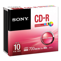 Sony Tintenstrahl-bedruckbare CD-R Disc, 10er-Pack