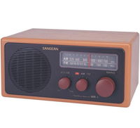 Sangean WR-1 Analogue Radio, Brown