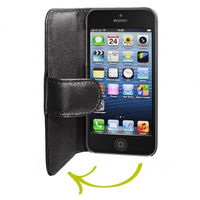 Artwizz SeeJacket Leather iPhone 5 (Schwarz)