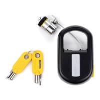 Kensington MicroSaver®-Notebookschloss mit Schlüssel, einziehbar (Schwarz, Gelb)