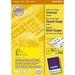 Avery Universal Labels, Yellow 105x37mm