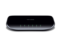 TP-LINK Unmanaged 5-Port-Gigabit-Desktop-Switch (5 10/100/1000M-RJ45-Ports) (Schwarz)