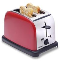 Bestron DTO3091 Toaster (Metallisch, Rot)