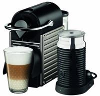 Krups Nespresso PIXIE + Aeroccino (Beige, Silber)