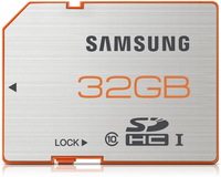 Samsung SDHC 32GB (Orange, Silber)