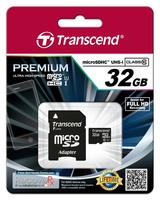 Transcend 32GB microSDHC Class 10 UHS-I (Schwarz)