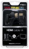 Bigben Interactive HQ HDMI Kabel 1.4/3D LX, 2.5m (Schwarz)