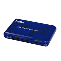 Hama USB CardReaderWriter 35in1 Blau Kartenleser (Blau)