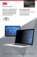 """3M Blickschutzfilter für Apple MacBook Pro 15"""" mit Retina-Display (Schwarz, Durchscheinend)"""
