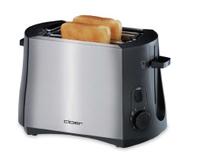 Cloer 3419 Toaster (Schwarz, Edelstahl)
