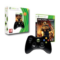 Microsoft Xbox 360 Wireless Controller + Gears of War: Judgment (Schwarz)