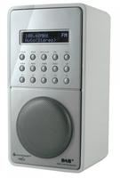 Soundmaster DAB100WS Tragbar Digital Silber, Weiß Radio (Silber, Weiß)