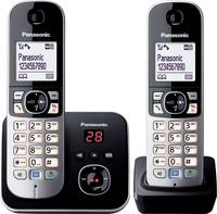 Panasonic KX-TG6822GB Telefon (Schwarz, Silber)
