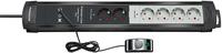 Brennenstuhl Premium-Line Comfort Switch Plus (Schwarz, Grau)