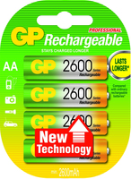 GP Batteries NiMH rechargeable batteries AA (Mehrfarbig)