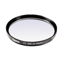 Hama UV Filter 390 (O-Haze), 58 mm, HTMC coated (Schwarz)
