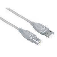 Hama USB Connection Cable A-Plug - B-Plug, grey, 1.8 m (Grau)