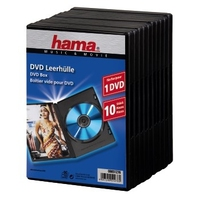 Hama DVD Jewel Case with foil, 10-pack, black (Schwarz)