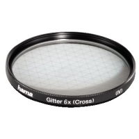 Hama Effect Filter, Cross Screen, 6 x, 58.0 mm (Schwarz)