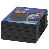 Hama DVD-ROM Jewel Case, Pack - 5, Black (Schwarz)