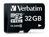 Verbatim 32GB microSDHC (Schwarz)